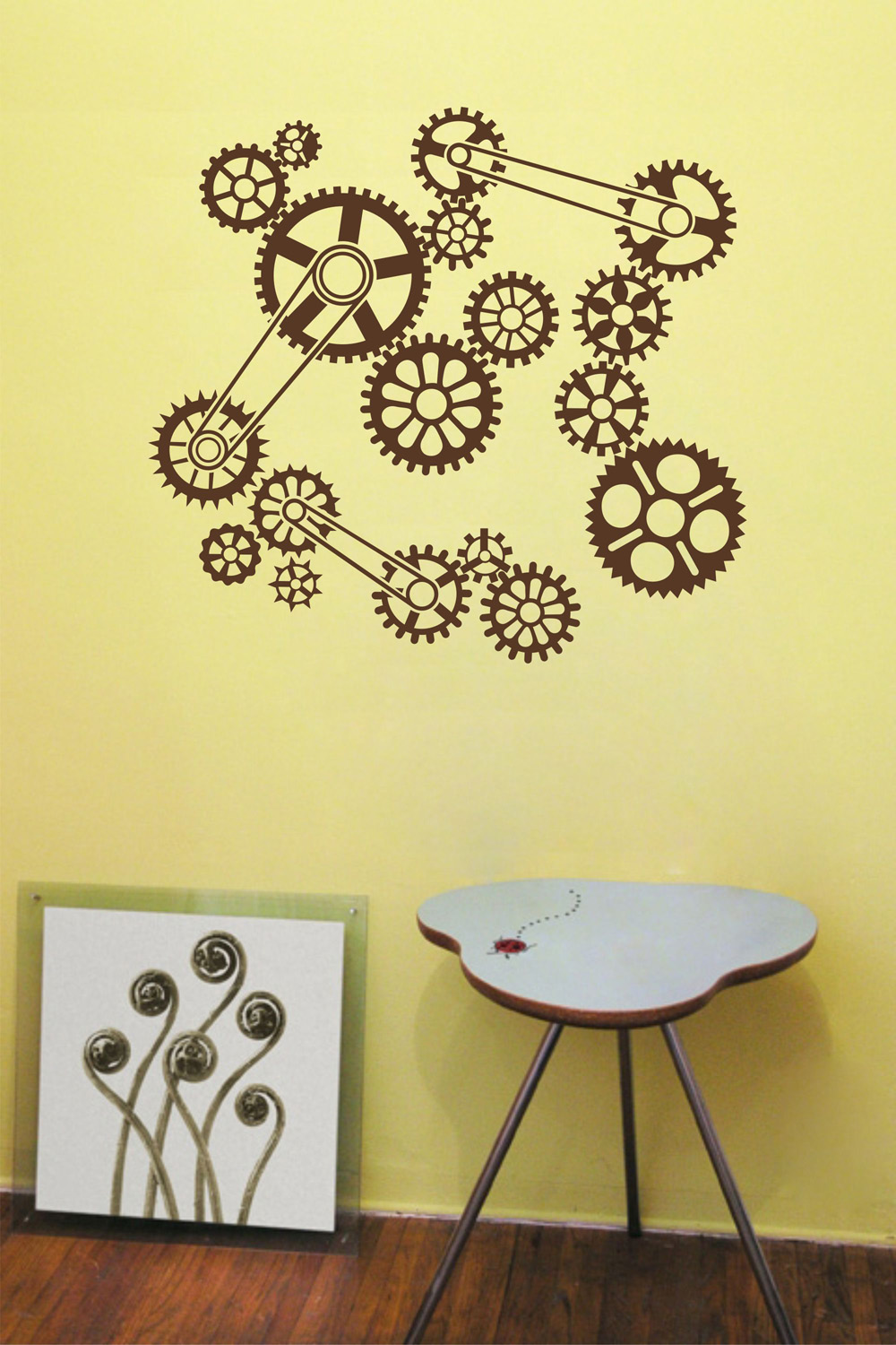 Vinyl Wall Art Decal Gears Mechanism Teamwork Office Work Decoration ...