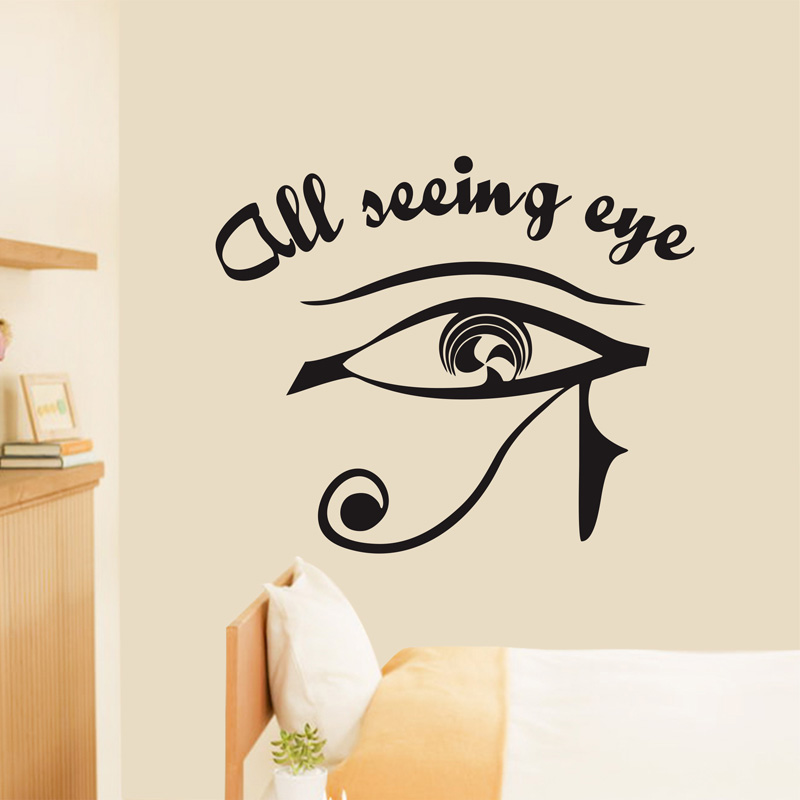 Eye of Horus All Seeing Eye Symbol Egypt Pagan Wall Sticker Mural ...