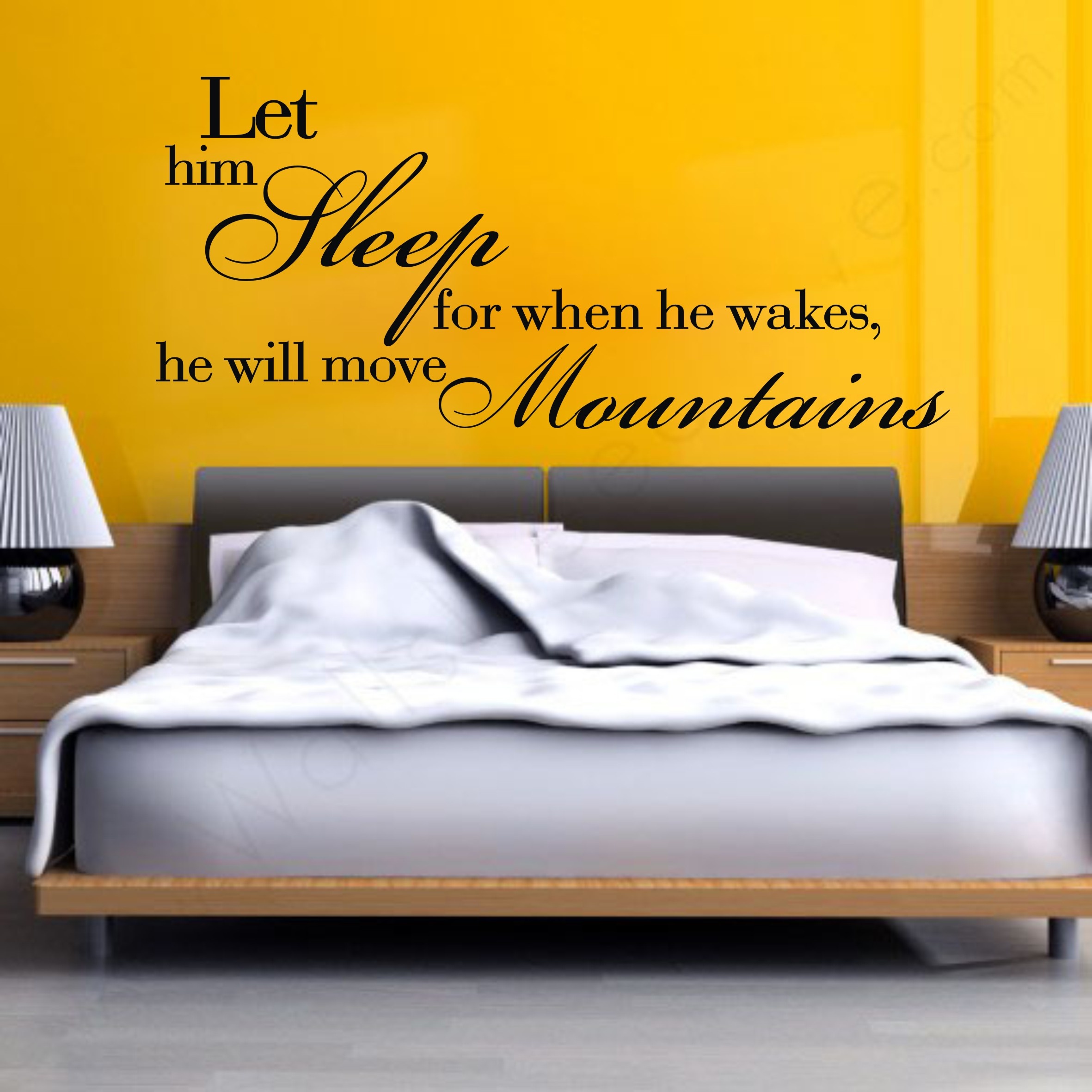 Let Him Sleep For When He Wakes Vinyl Home Decor Wall Stickers Art ...