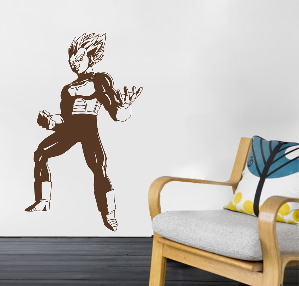 Dragon ball z wall stickers the new sticker design anime dragon ball z wall sticker vegeta dbz super saiyan vinyl amipublicfo Images