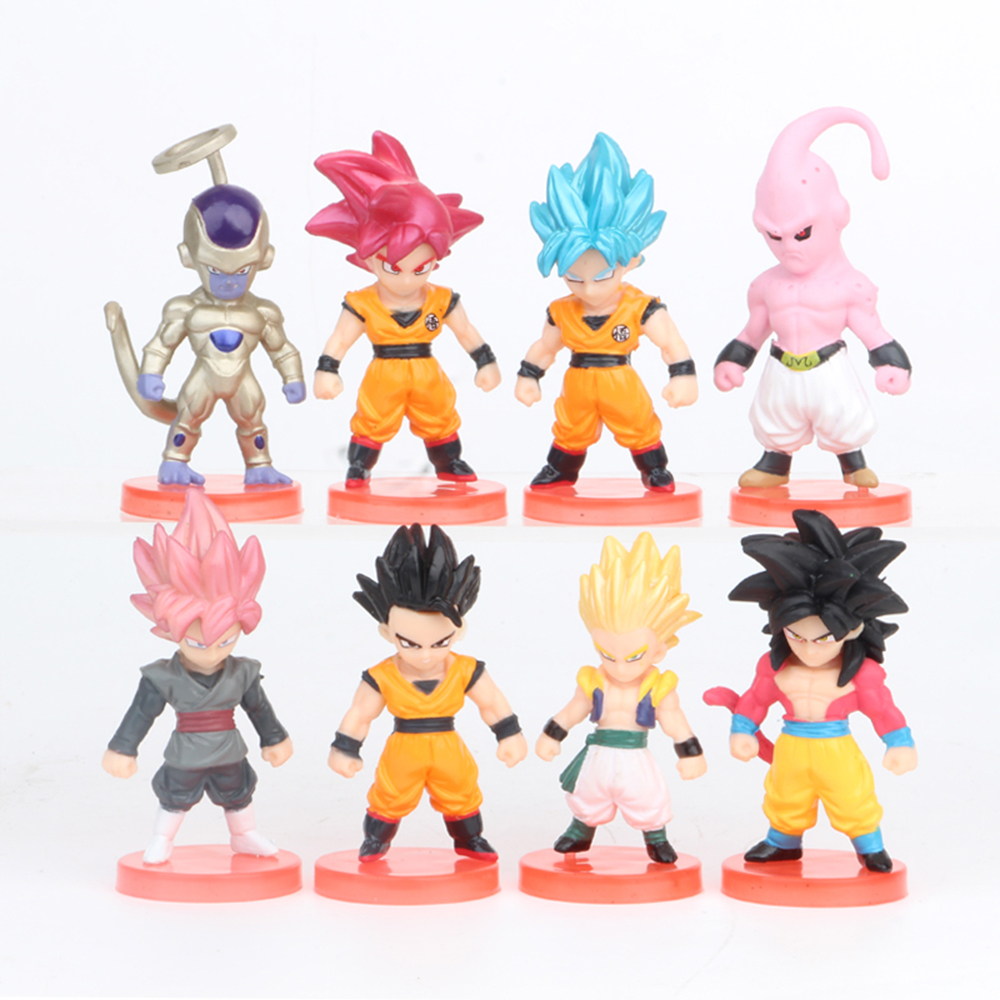 Dragon Ball Vegeta 6 PCS Anime Action Figure Cake Topper Kid Doll Gift Toy