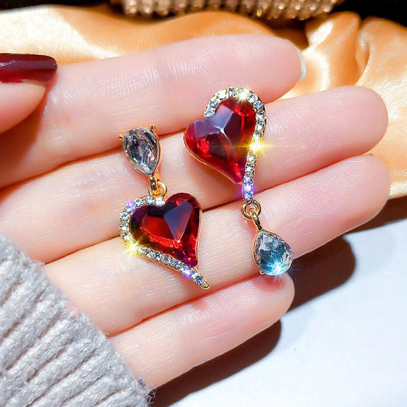 Asymmetrical note Ear Studs Ear Nails Alloy Earrings Women Fine Jewelry