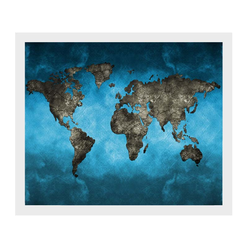 Retro world map art canvas print wall painting picture unframed retro world map art canvas print wall painting gumiabroncs Gallery