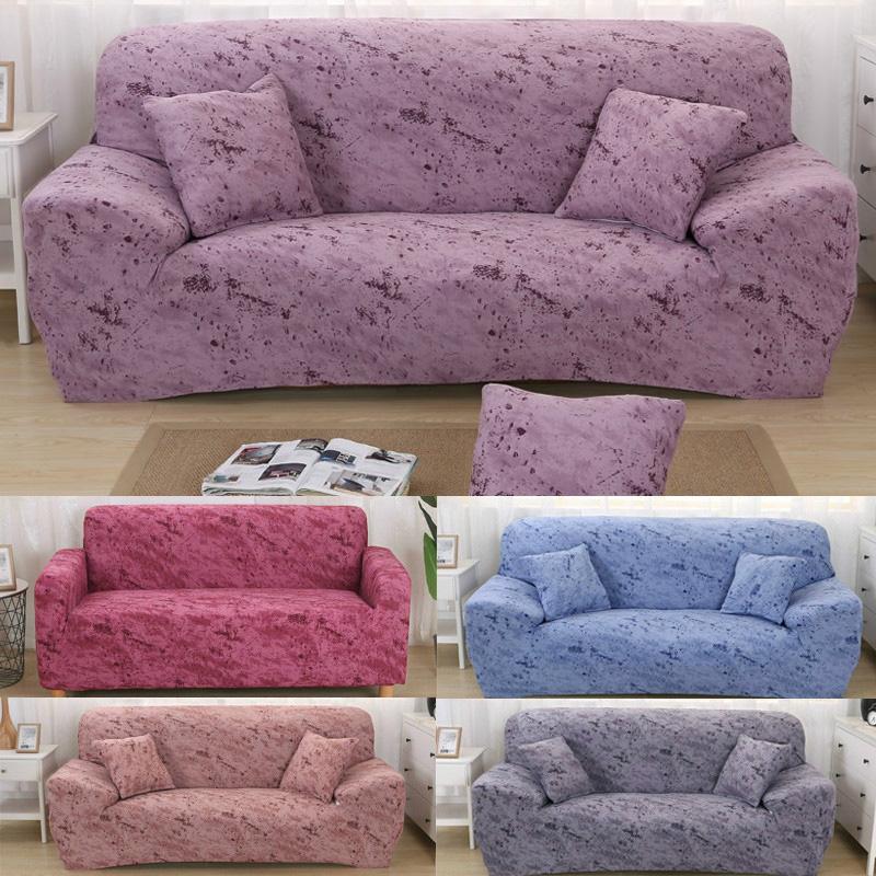 Solid Stretch Sofa Cover Throw Sofa Protector Cover Slipcover Tissue Home Decor