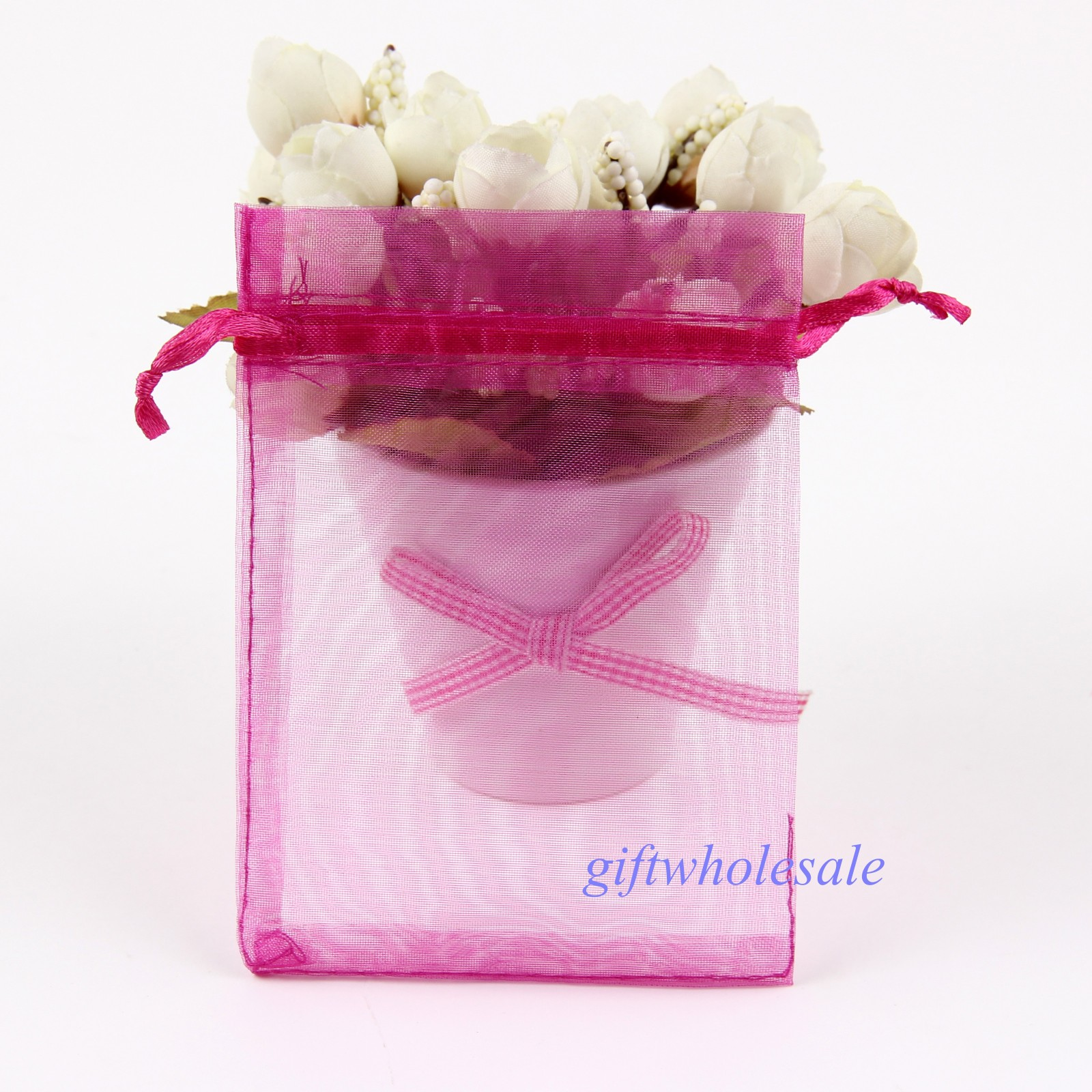 12 Size Sheer Organza Wedding Party Jewelry Pouches Favor Gifts ...