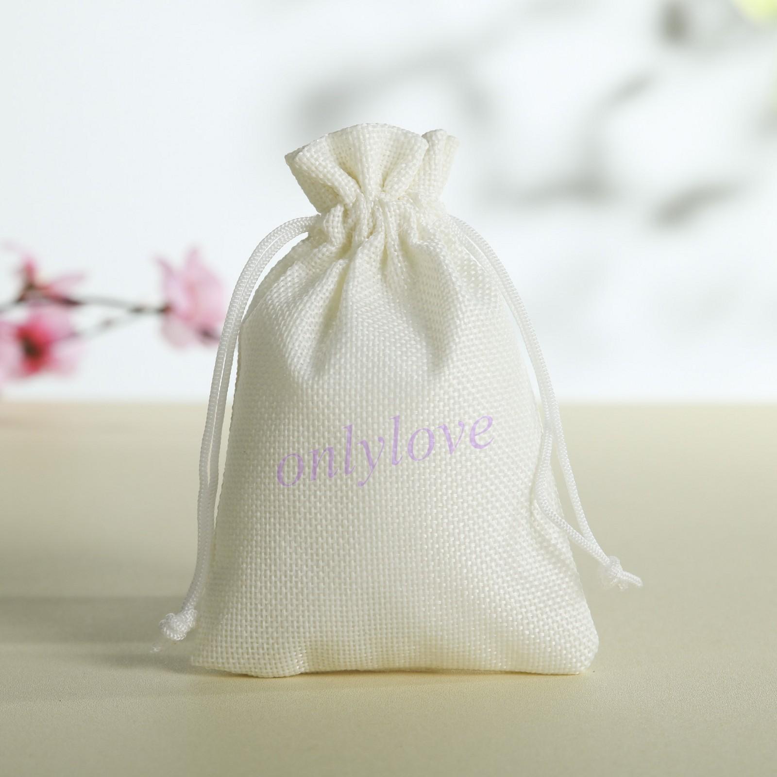 5 10 50 Wedding Favor Hessian Burlap Jute Favour Gift Bags ...
