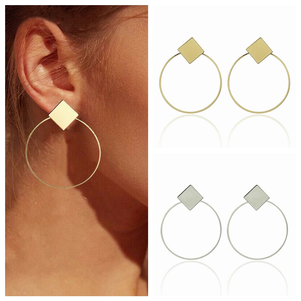 1 Pair 2018 Geometic Pattern Women Earring Fashion Ear Drop Ear Stud Pendant AQ
