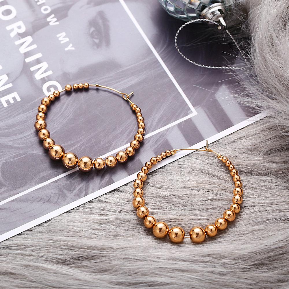 Drop Quality Pearl Earrings for Women Bronzed Fashionable Girl Jewelry Hoop Earrings