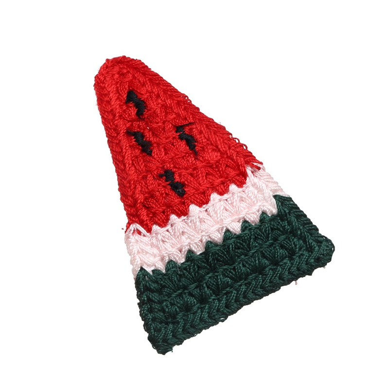 5Pcs//Set Fruit Twist knitting Lovely Hairpin Baby Girl Hair Clip Barrettes Kids