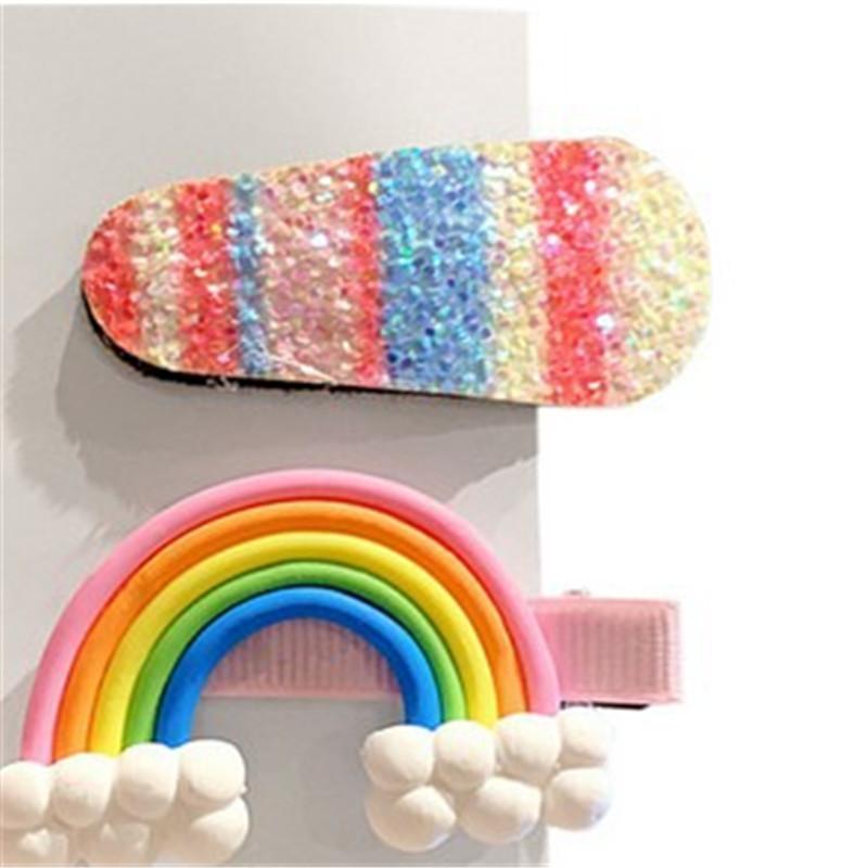 3PCS//Set Women Girls Baby Kid Fruit Flower Rainbow Headwear Hair Clips Hairpin