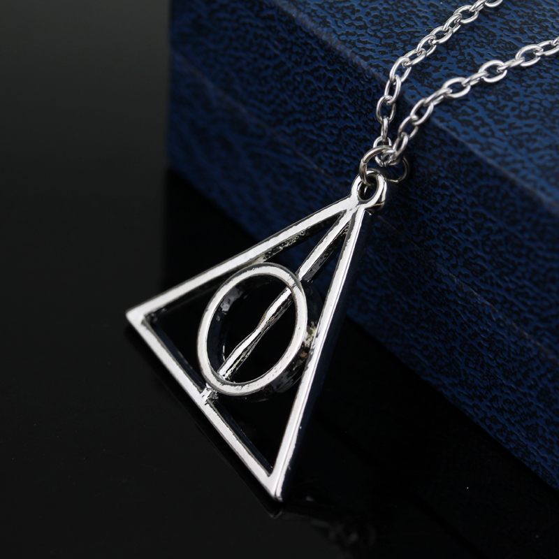 Movie Harry Potter Deathly Hallows Hot Metal Brown Pendants Necklaces for Women