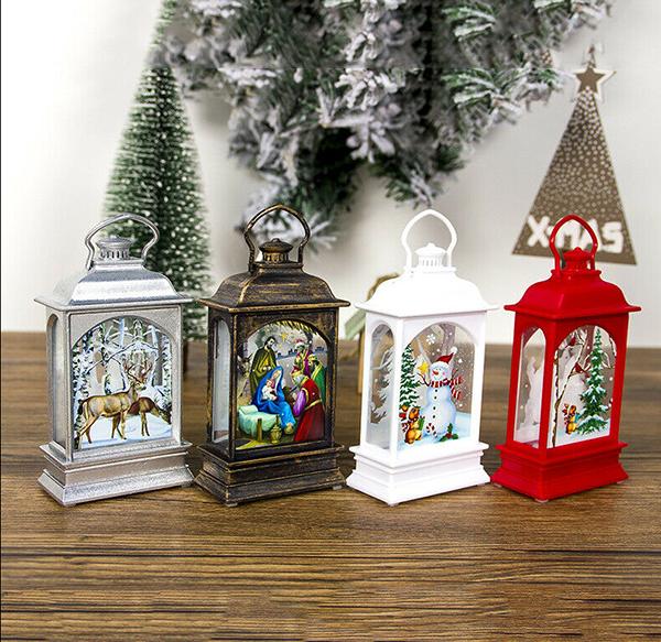 Christmas Tree Auction: Christmas Tree Hanging Lamp Santa Claus Deer Snowman Light