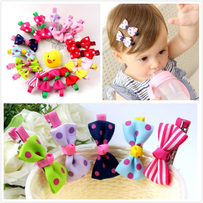 10Pcs Kids Baby Girls Children Toddler Flowers Hair Clip Bow Accessories Hairpin