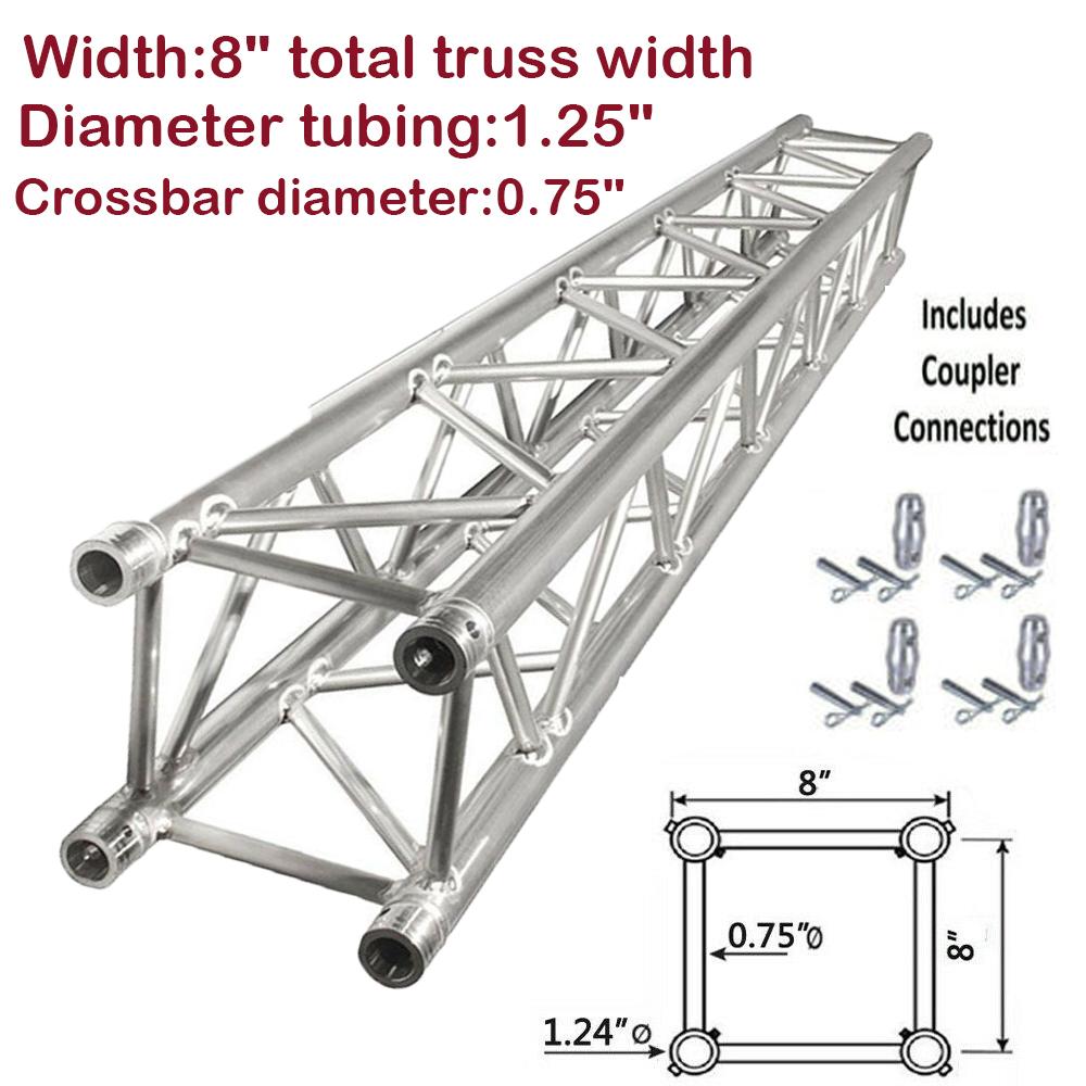Details About 6 56ft 2 0m Square 8 X8 Aluminum Dj Audio Stage Lighting Stands Truss Segment