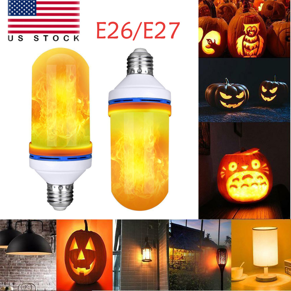 Details about E26/E27 LED Flame Effect Light Bulb Flickering Flame Lamp  Simulated Decorative