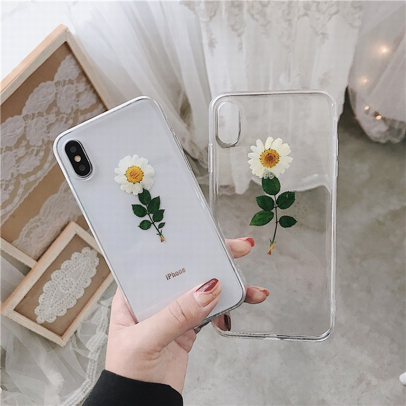 Pressed Real Flower iPhone 7 Plus Case Clear iPhone 7 Cover iPhone