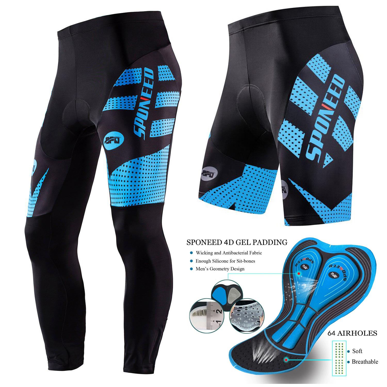 Cycling Shorts Padded Men Cycling Bibs Road Bike Bib Pants Stretchy Spin Tights