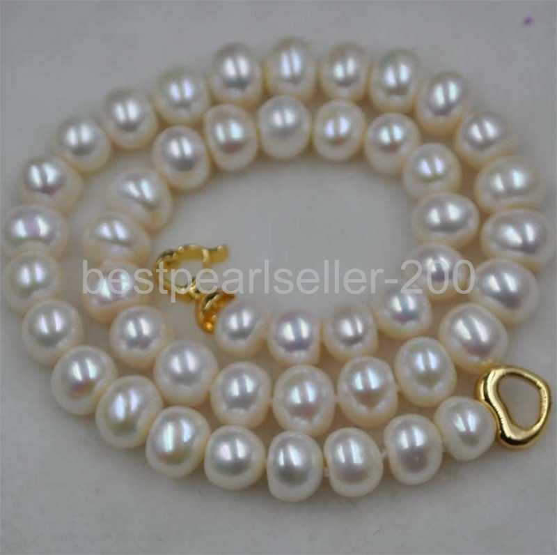 """48/"""" real nature purple baroque freshwater pearl necklace 10-11mm"""