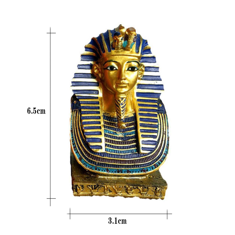 King Tut Tutankhamun Death Mask Pharaoh Statue Ancient Egypt Figurine Home Decor