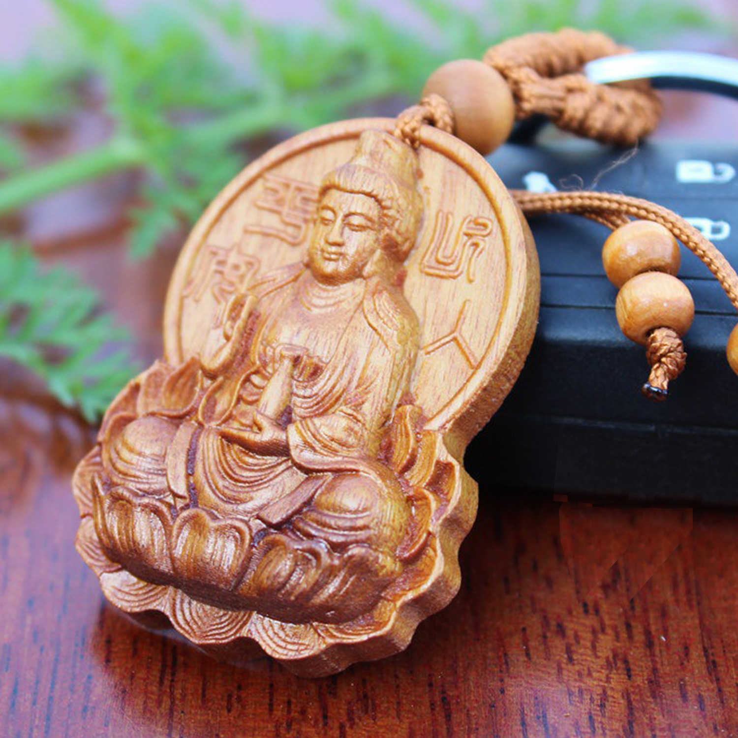 Collection Rosewood Carving China Wood Buddha Statue Sculpture Amulet
