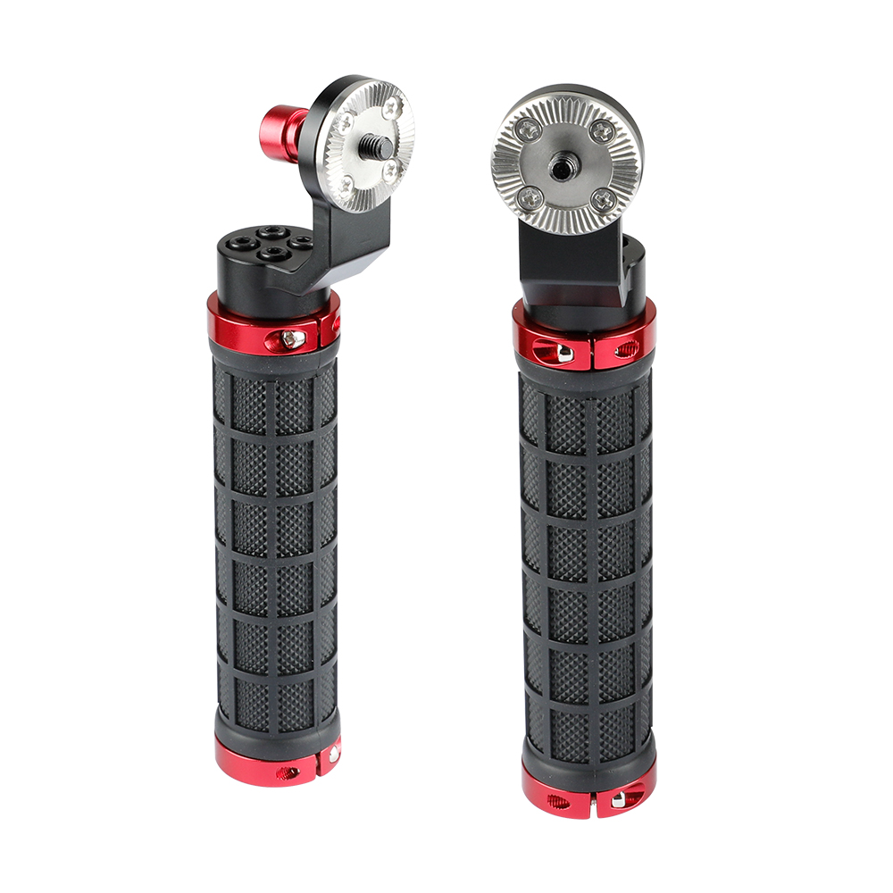 CAMVATE ARRI-Style Rubber Rosette Handle Grip Red 2-Pack