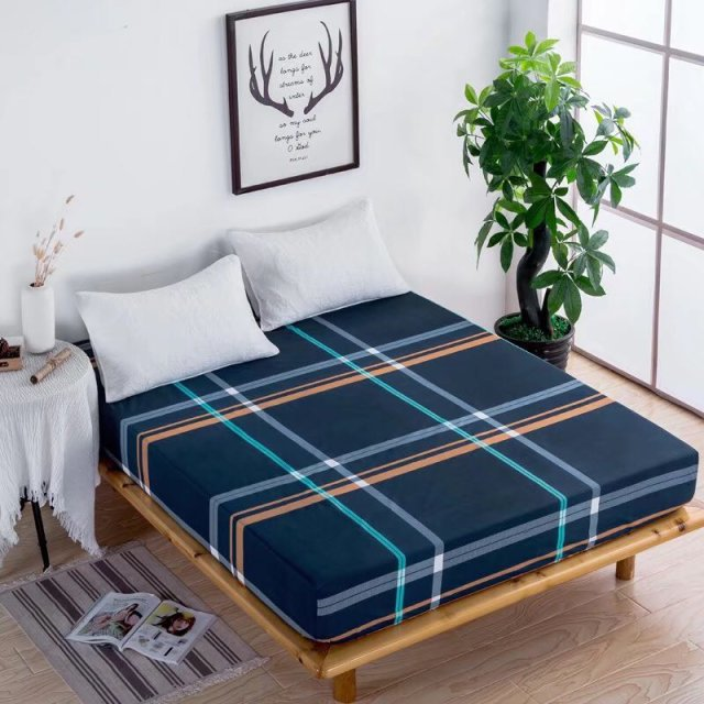 Twin//Full//Queen Size Waterproof Flat Fitted Sheet Bed Cover Comfort Carton Print