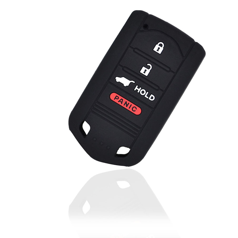 4 Button Silicone Remote Car Key Fob Case Cover Fit For