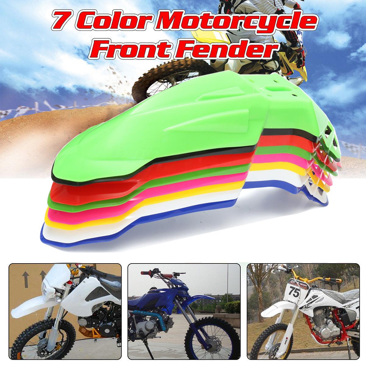 1 Piece Universal Front Fender Mudguard Pit Dirt Bike Motocross Supermoto Enduro