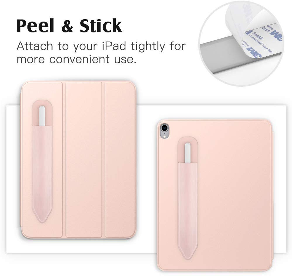 Elastic PU Lycra iPencil Stylus Adhesive Pocket Premium Protective Pouch Sleeve fit Apple Pencil 1st//2nd Generation TiMOVO Case Compatible with Apple Pencil Holder Sticker 2 Pack Black Rose Gold
