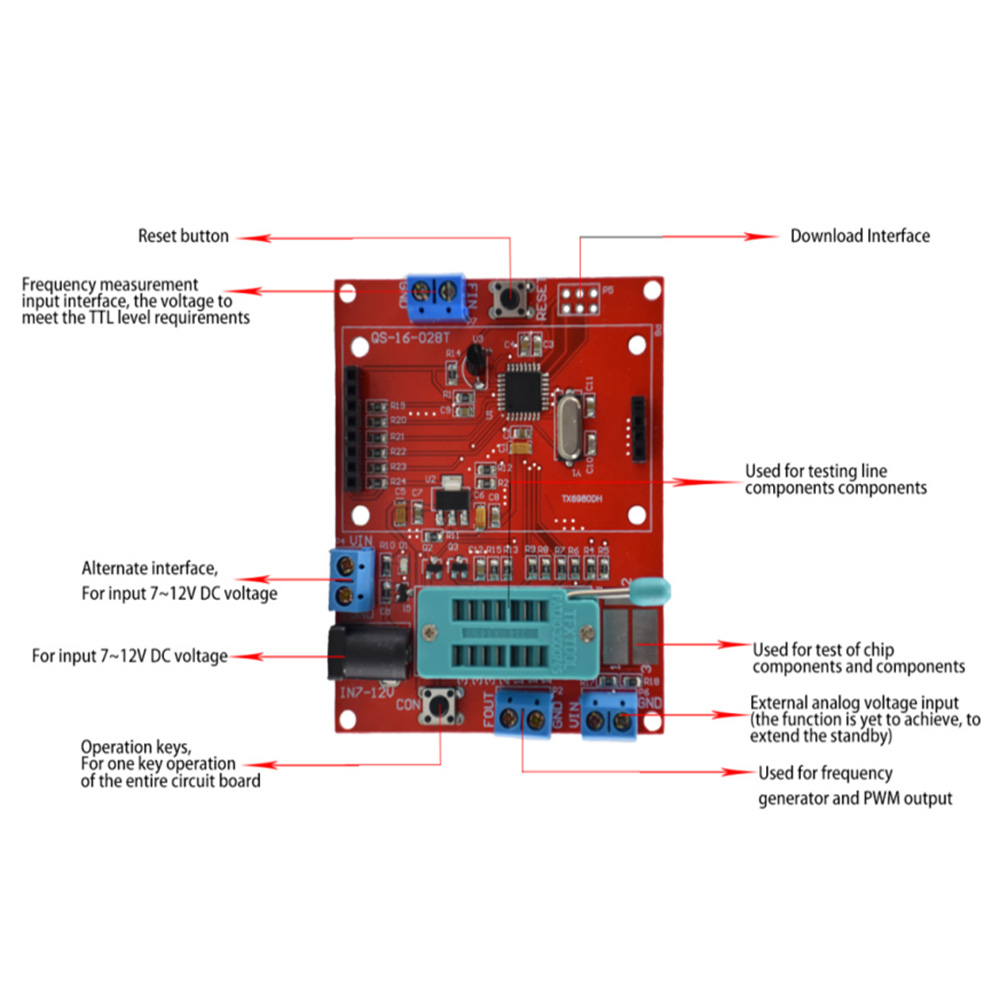 Diy Lcd Gm328b Transistor Tester Diode Esr Meter Pwm Square Wave Alternating Pulse Generator Circuit Diagram Case