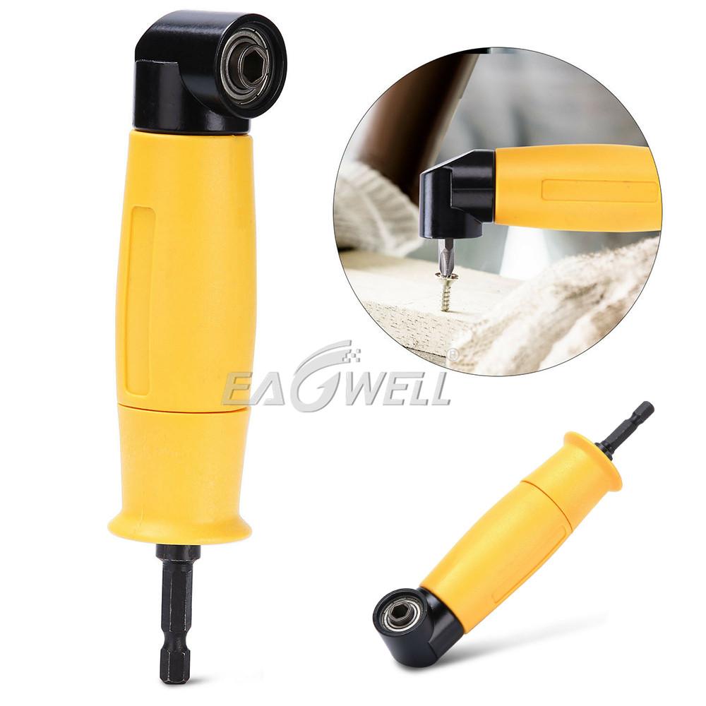 90 Degree Drill Adapter Right Angle Electric Drill Attachment Yellow