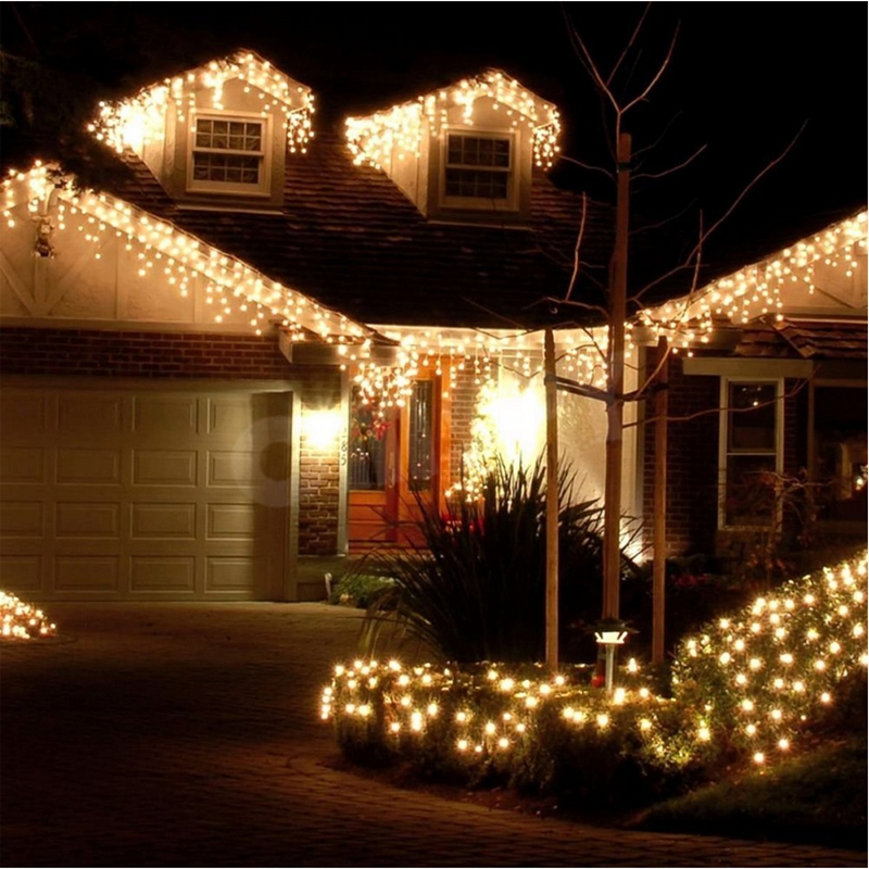 Us 96 672 Led String Fairy Icicle Snowing Curtain Lights