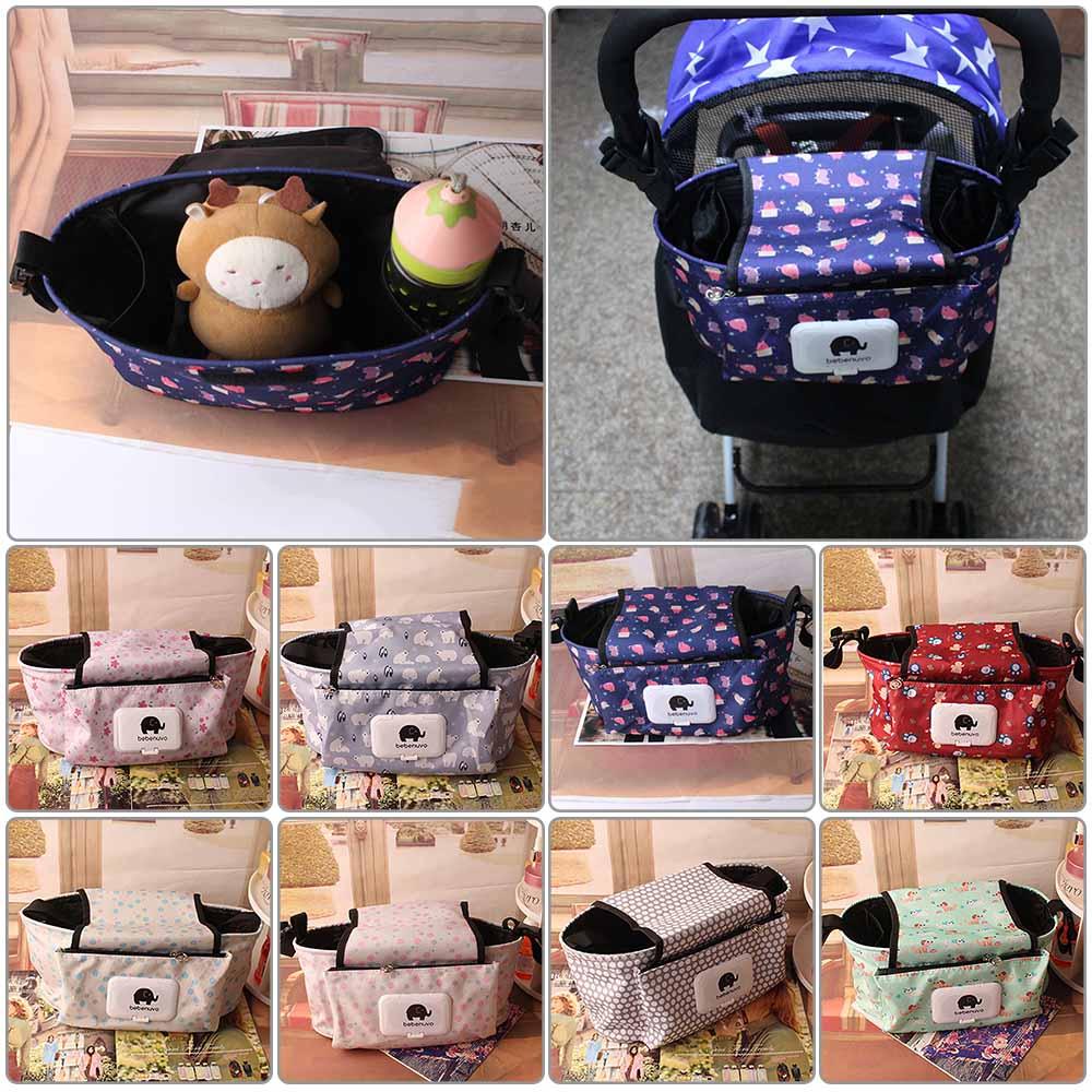 Fashion Pram Baby Trolley Storage Bag Stroller Cup Carriage Buggy Organizer New