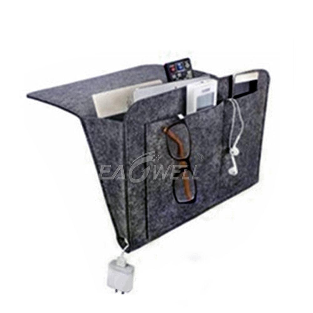 100% True Pockets Bedside Storage Organizer 4-pocket Bedside Chair Desk Cabinet Sofa Slipcovers Hanging Caddy Desk Storage Bag Home Storage & Organization Home & Garden