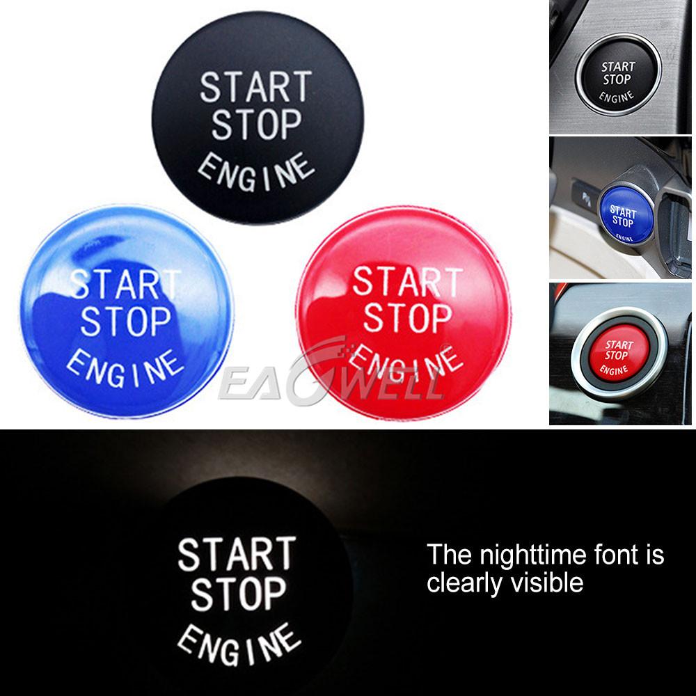 Engine Start Stop Push Switch Button Trim For BMW 3 Series E90 E92 E93 5 Series