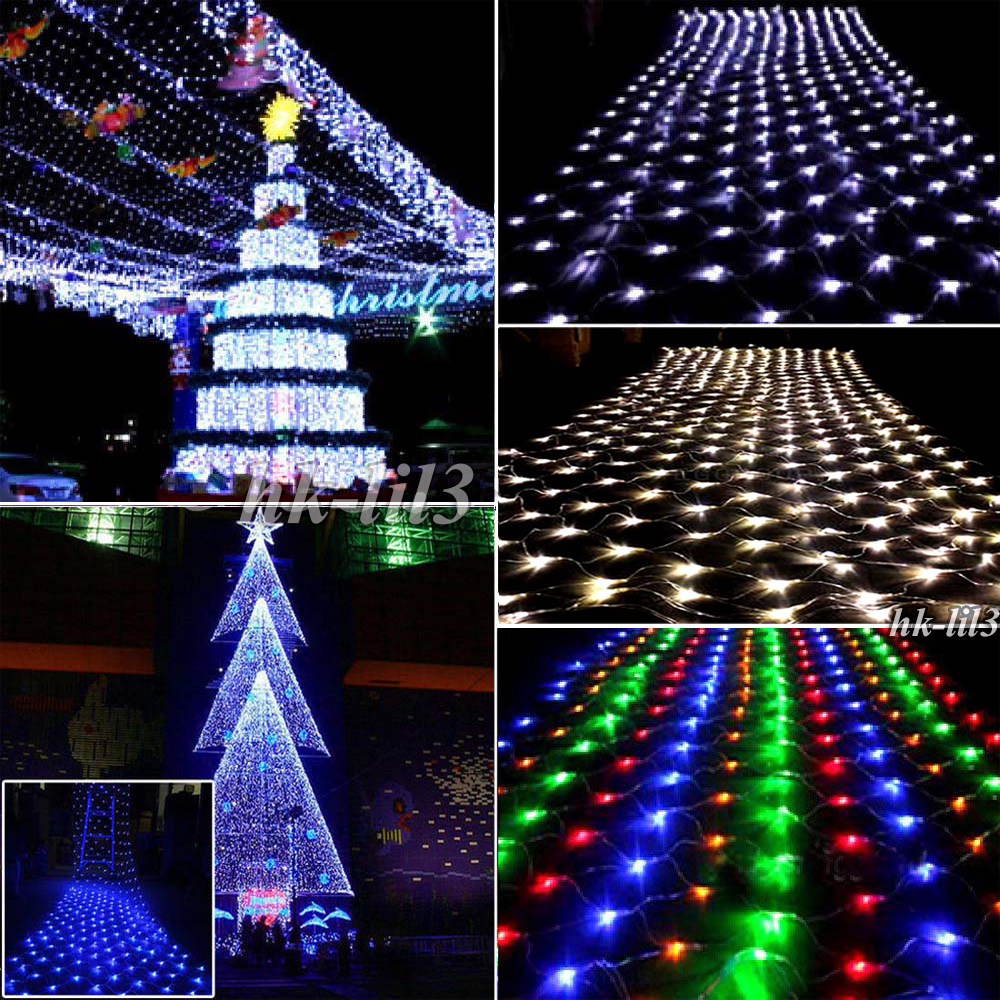 Waterproof LED Nets Mesh Fairy String Party Light Christmas Tree Decoration Lamp