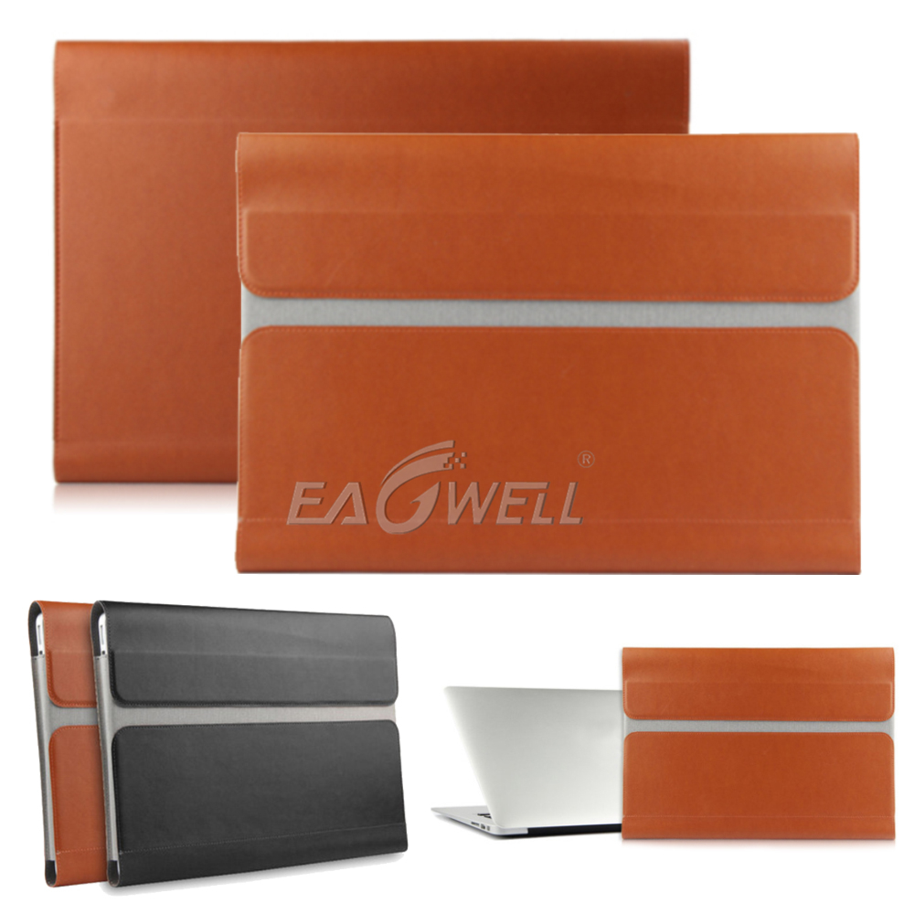 91aa171cff70 Details about Luxury Business PU Leather Laptop Case Cover Pouch For 13