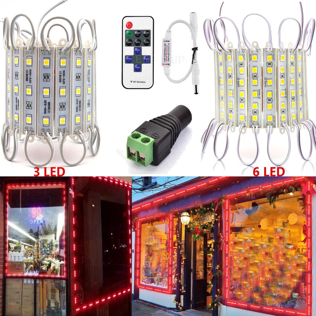 Superbright 5050 SMD 3 LED Module Light Waterproof AD Sign Decorative Lamp DC12V