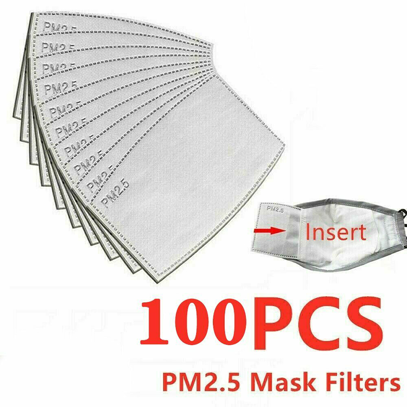 5-Layer Replacement of The Face Cover Filter in a Protective Cover 60pack-adultsize-New MOAMUN Activated Carbon Filters