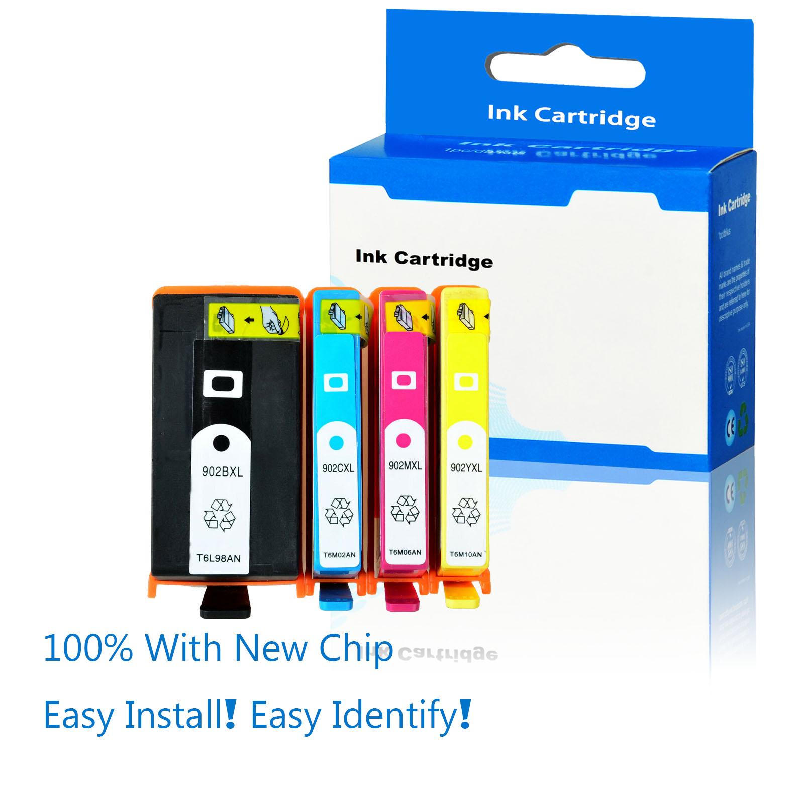 4 PK 906XL 902XL 906 902 BCMY Ink Cartridges for HP Officejet Pro 6960 6962 6975