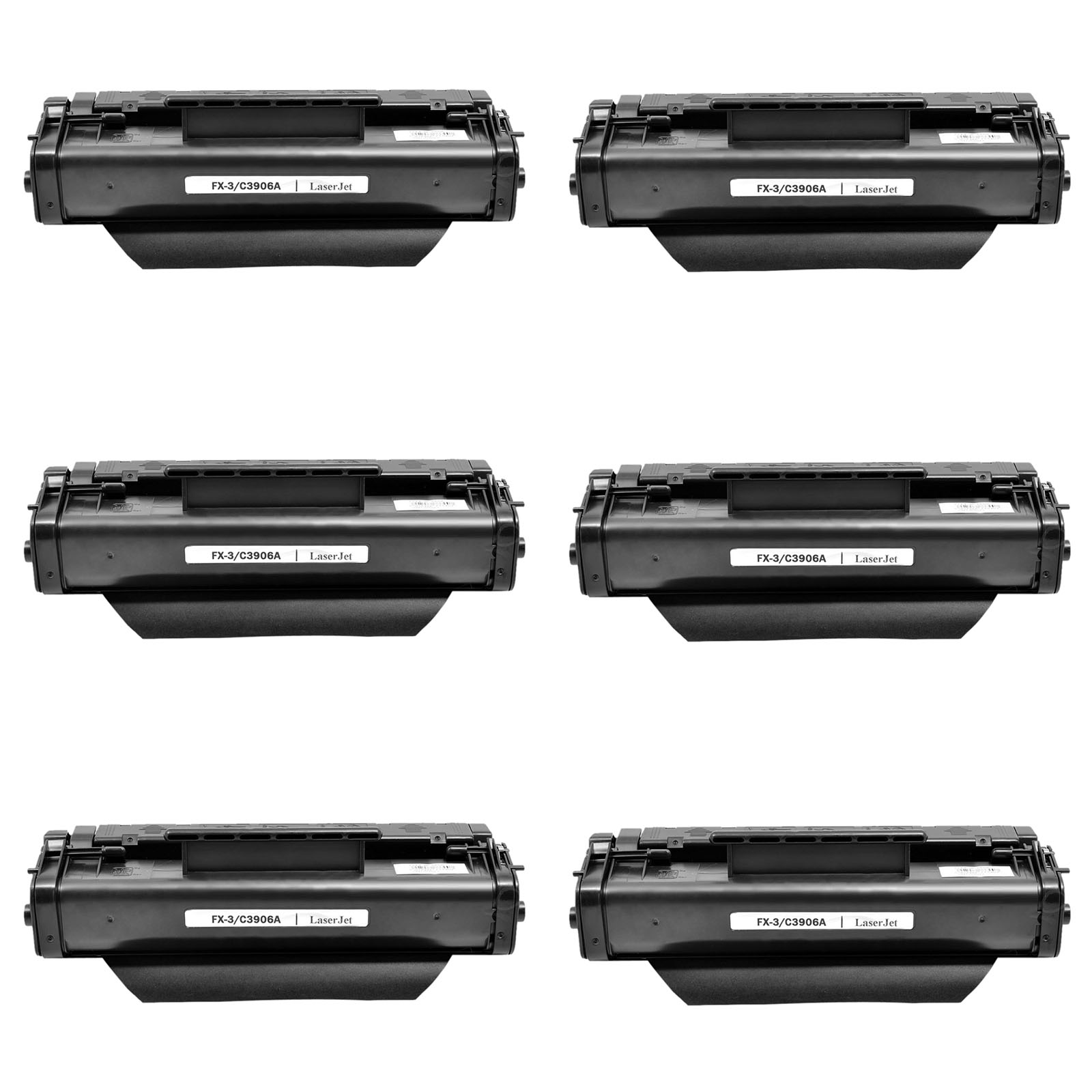 6 PK Black Toner Cartridge aptible for HP 06A C3906A LaserJet 3100se 3150se
