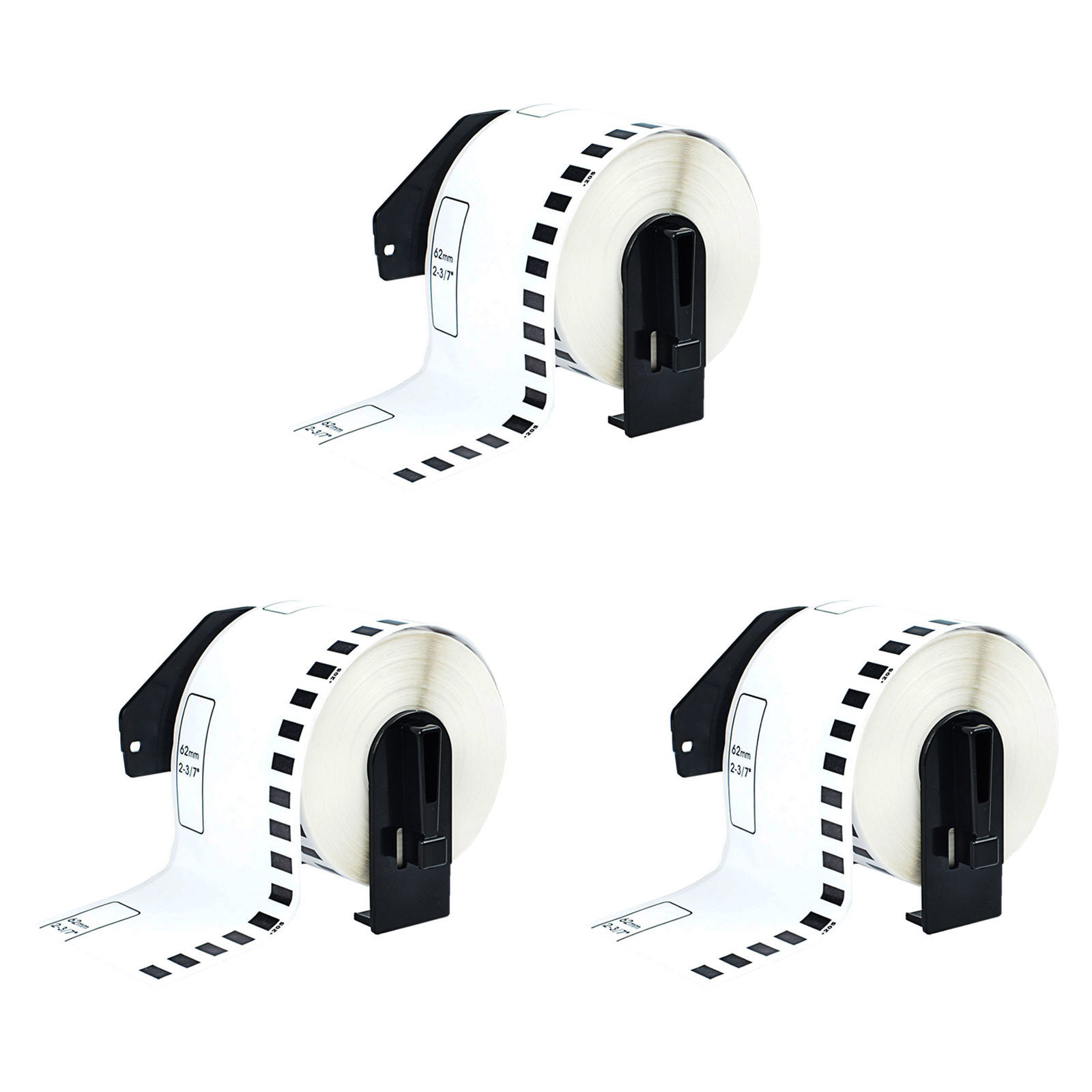 """10 Rolls DK-2205 DK2205 Continuous Labels Compatible for Brother 2-3//7/"""" x 100/'"""