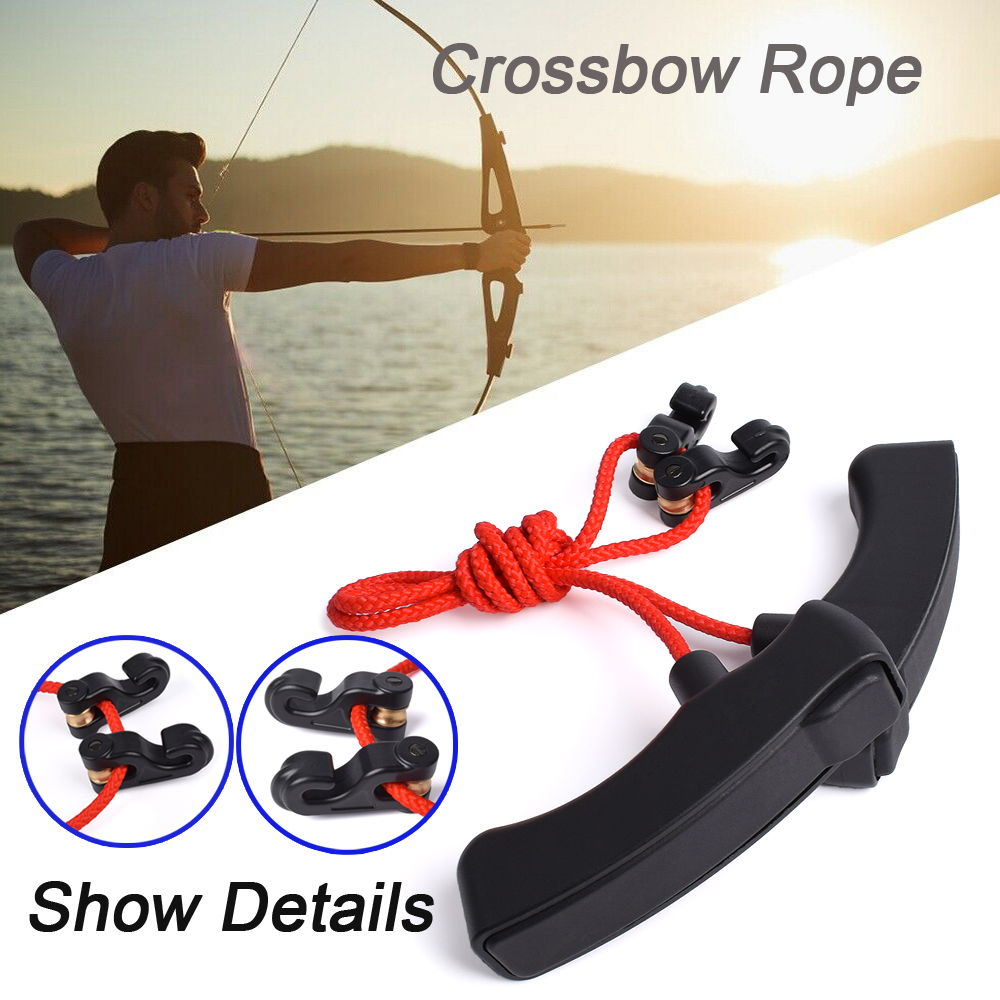Crossbows Cocking Device Tool Archery Rope Double Handle String Install Tool