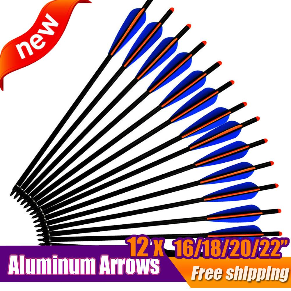 12X 16//18//20//22 inch Fiberglass Crossbow Bolts Arrow Archery Hunting Shooting US
