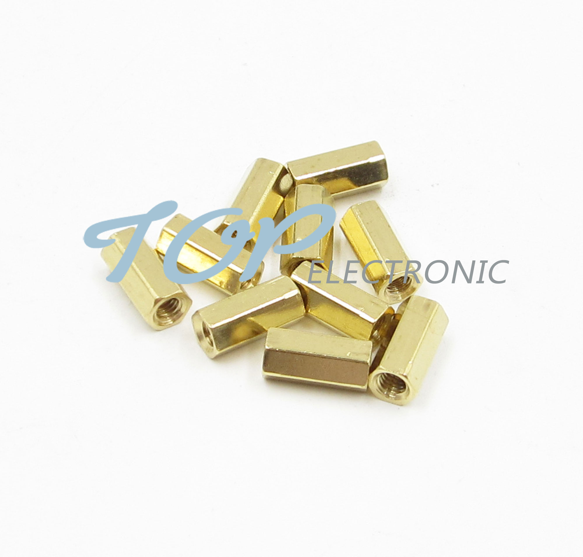 50pcs M3 10 mm Hexagonal net nut Female brass Standoff//Spacer Good Quality