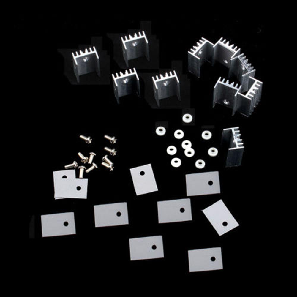 2PCS 34x38x12mm TO-247 TO-220 Aluminum Heatsink Cool Heat Sink Sound Transistors