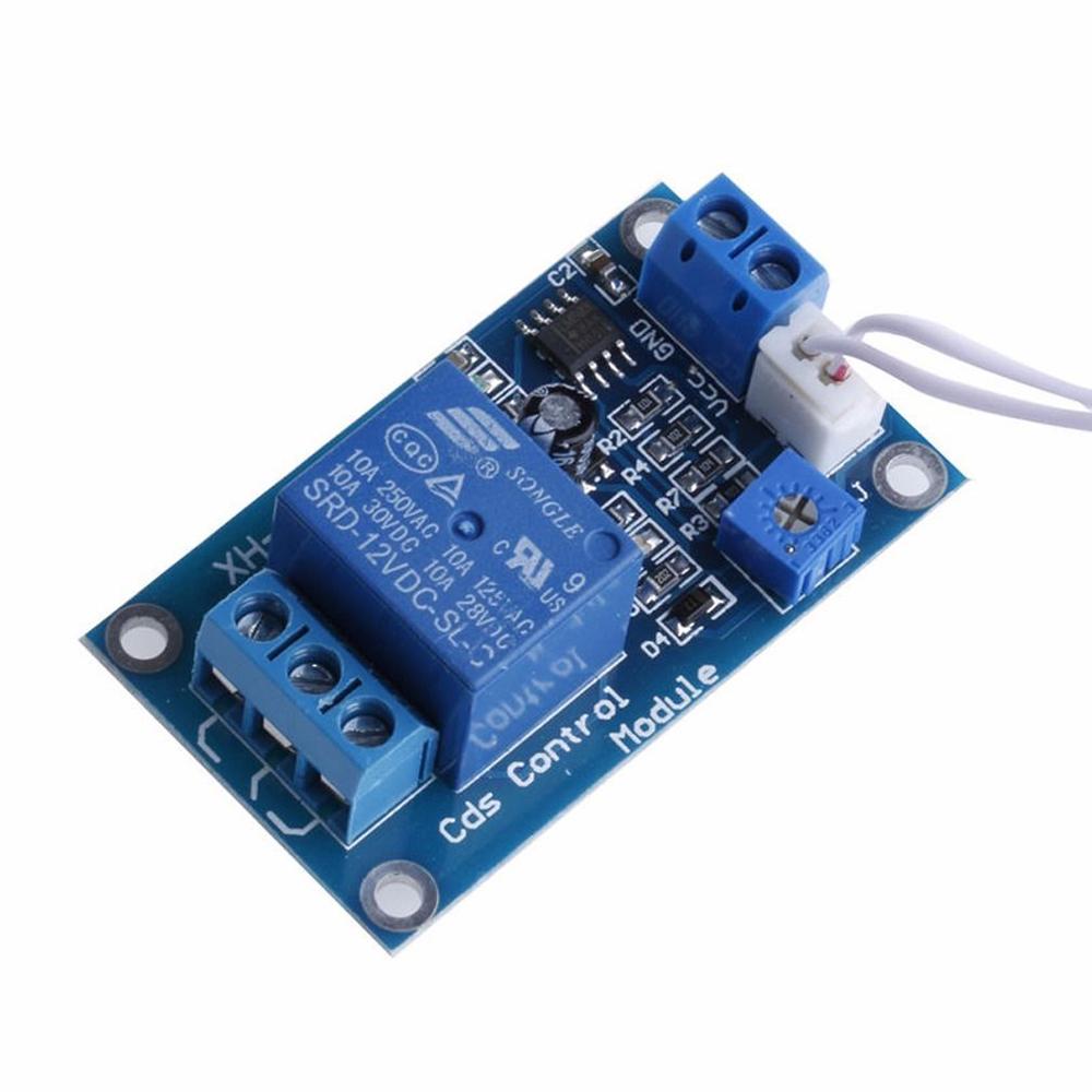 12V Photoresistor DC Module Relay Lights Detection Sensor Light Control Switch