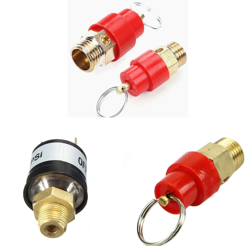 """1~10 KG 1//4/"""" BSP Air Compressor Safety Release Valve Relief Regulator PSI90-120"""