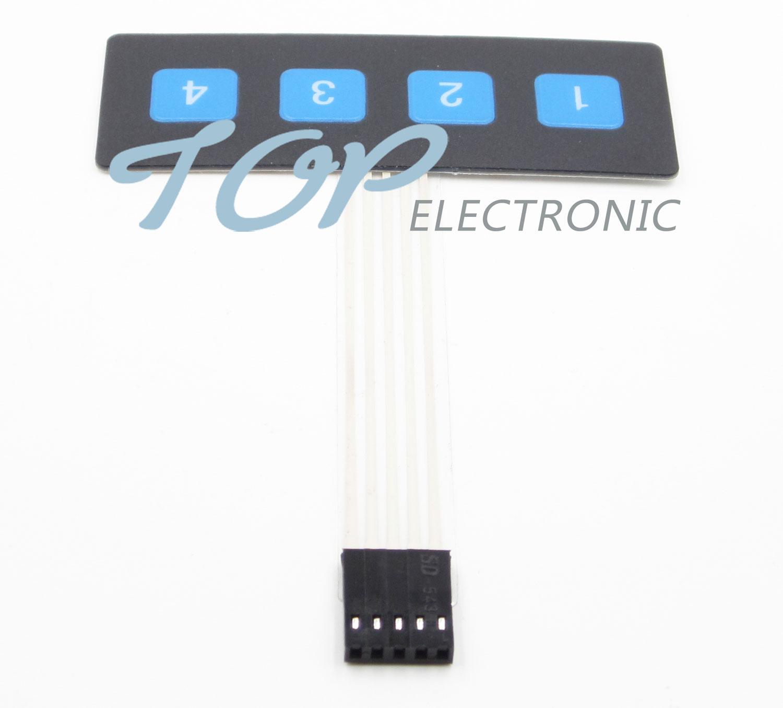 New 1x4 Key Matrix Membrane Switch Control Panel Slim Keyboard Keypad