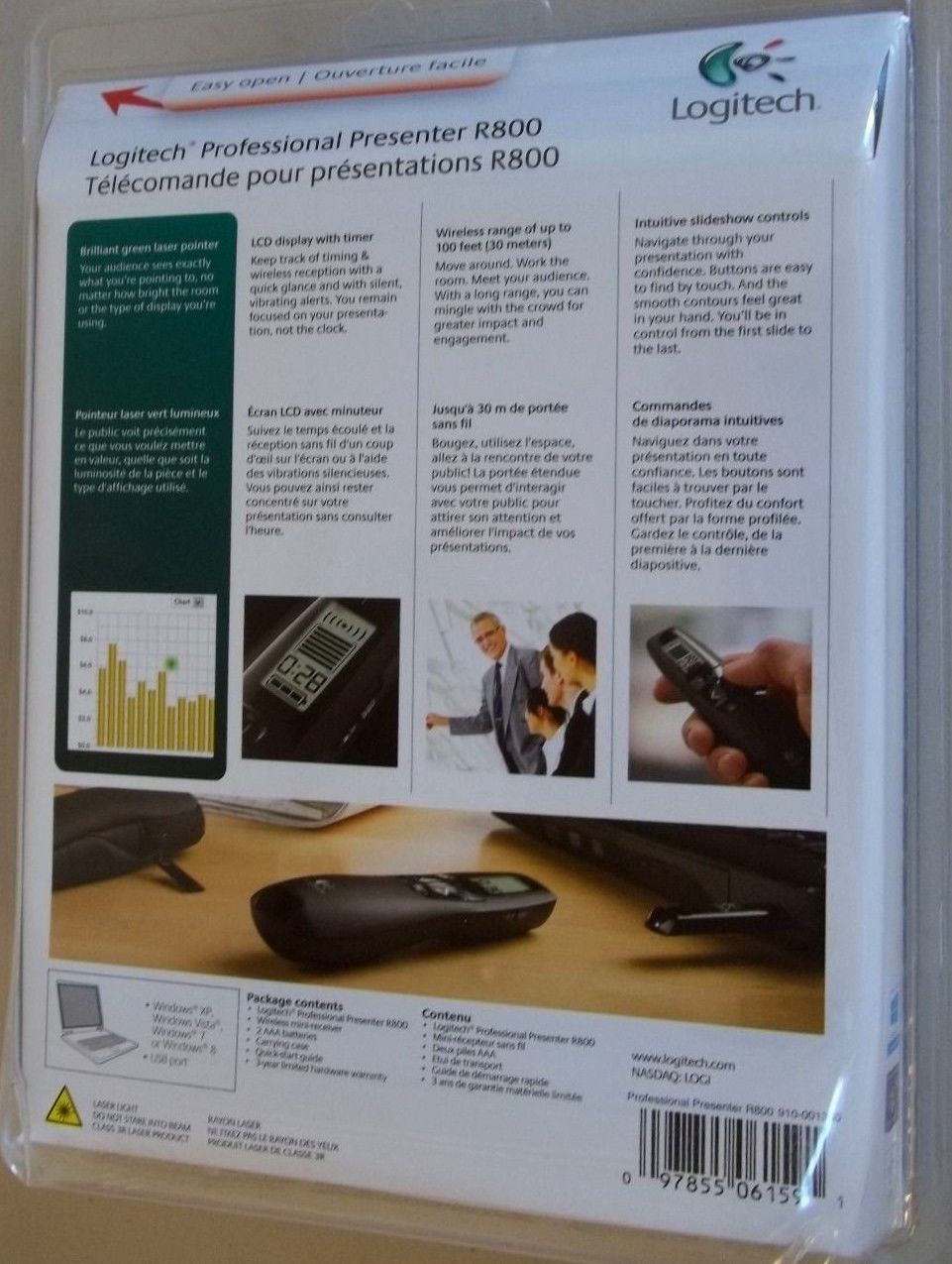 Logitech professional presenter r700 helps you give exceptionally good - Logitech R800 Professional Wireless Presenter W Green Laser Pointer Projection 6 29 99 6 Of 8